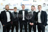 Press Eye - Belfast - Northern Ireland - 7th May 2018  - . NI Football Awards at the Crowne Plaza Hotel.. Gareth McConaghy, Ciaron Harkin, Oran Kearney, Chris Johns and Stephen O\'Donnell pictured at the Awards.. Photo by Kelvin Boyes / Press Eye .