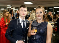 Press Eye - Belfast - Northern Ireland - 14th January 2019.. BELFAST TELEGRAPH SPORTS AWARDS 2018. Rhys McClenaghan and girlfriend Rebecca Gilbert pictured at the  Belfast Telegraph Sports Awards in the ICC Belfast.. Photo by Matt Mackey / Press Eye.