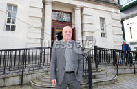 Press Eye - Belfast - Northern Ireland - 10th September 2019. Victims campaigner Raymond McCord pictured outside the High Court in Belfast where he was seeking an emergency injunction stopping a no deal Brexit on the grounds that it would have an affect on the peace process.. See copy by Alan Erwin/Laganside Media. .   . Picture by Jonathan Porter/PressEye