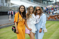 Press Eye - Belfast - Northern Ireland - 7th May 2018  - . May Day Meeting at Down Royal Racecourse.. Sinead Begley, Ellen McCann and Orla Nutley pictured at the County Down racecourse.. Photo by Kelvin Boyes / Press Eye .