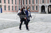 Press Eye - Belfast - Northern Ireland - 31st July 2020 - . Minister Nichola Mallon at the meeting of the North South Ministerial Council at Dublin Castle.. Photo by Kelvin Boyes / Press Eye..