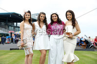 Press Eye - Belfast - Northern Ireland - 7th May 2018  - . May Day Meeting at Down Royal Racecourse.. Amy Kelly, Julie Bogan, Cora Marlow and Aoife Cathcart pictured at the County Down racecourse.. Photo by Kelvin Boyes / Press Eye .