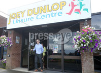 Press Eye - Belfast - Northern Ireland - 8th August 2018. Three petition signing centre open in north Antrim regarding The Recall of MPs Act 2015 and DUP MP for the area Ian Paisley Jnr\'s recent suspension from the House of Commons over expenses and holidays to Sir Lanka. . Sinn Fein MLA for the area Philip McGuigan leads a party delegation at the Joey Dunlop leisure centre in Ballymoney after he signs the petition. .  . Picture by Jonathan Porter/PressEye