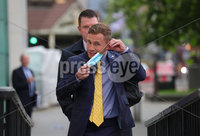 Press Eye - Belfast - Northern Ireland - 11th September 2020 - . Carl Frampton pictured with John Finucane MP as he heads into a High Court showdown with Barry McGuigan in Belfast.. Mr Frampton, 32, is suing Mr McGuigan, his wife Sandra McGuigan and Cyclone Promotions (UK) Ltd, claiming a failure to pay purse money from his bouts.. Photo by Kelvin Boyes /  Press Eye..