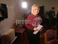 Press Eye Belfast - Northern Ireland 13th November 2017. Sinn Fein hold a press conference at Stormont regarding the ongoing talk to get the Northern Ireland Assembly up-and-running. . Northern leader Michelle O\'Neill enters the room for the press conference. . Picture by Jonathan Porter/PressEye.com