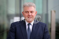 Press Eye - Belfast - Northern Ireland - 14th February 2020. New Secretary of State for Northern Ireland Rt Hon Brandon Lewis CBE MP pictured on his first official engagement at the Centre for Security Information Technologies in the Titanic Quarter area of Belfast. . Picture by Jonathan Porter/PressEye
