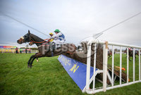 Press Eye - Belfast - Northern Ireland - 3rd November 2018 . The Rainbow Communications Handicap Steeplechase of 16,000 . Race winner He Knows My Name on board Andrew Ring. Picture  Matt Mackey / Press Eye.