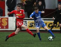 Danske Bank Premiership, Solitude, Belfast 1/12/2018 . Cliftonville vs Dungannon Swifts. Aaron Donnelly Cliftonville and Ryan Curran Dungannon. Mandatory Credit INPHO/Freddie Parkinson