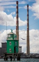 REPRO FREE***PRESS RELEASE NO REPRODUCTION FEE***. Return of the Red Bull Cliff Diving World Series to Ireland, Dublin 16/5/2017. Red Bull Cliff Divers Orlando Duque and Anna Bader showcased their acrobatic expertise at the iconic Northbank Lighthouse in Dublin Bay this morning to celebrate the return of the Red Bull Cliff Diving World Series to Ireland. Returning for the third time the World Series will begin on 24th June on Inis Mór. It was announced today that the sold-out event will be broadcast live to a global audience on Red Bull TV, when the world's cliff diving elite will compete at the breathtaking Serpent's Lair on the edge of Europe. RedBullCliffDiving.COM. Pictured Red Bull Cliff Diver Orlando Duque. Mandatory Credit ©INPHO/Morgan Treacy