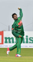 Mandatory Credit: Rowland White / PressEye. Cricket: Walton Tri-Series International. Teams: Ireland (light green) v Bangladesh (dark green). Venue: Malahide. Date: 19th May 2017. Caption: Shakib AL HASAN, Bangladesh