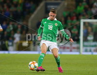 Press Eye - Belfast - Northern Ireland - 9th September 2019 . UEFA EURO Qualifier Group C at the National Stadium at Windsor Park, Belfast.  Northern Ireland Vs Germany. . Northern Ireland\'s Gavin Whyte .  . Photo by Jonathan Porter / Press Eye.