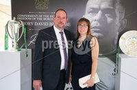 Press Eye - Belfast - Northern Ireland - 8th September 2018 - . Gordon and Roberta Kennedy pictured at the Archbishop's Palace in Armagh along with friends and family of Dr Rory Best OBE to witness the sportsman's conferment with the Freedom of the Borough of Armagh City, Banbridge and Craigavon..  . Photo by Kelvin Boyes / Press Eye..