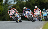 Mandatory Credit: Rowland White / PressEye. ULSTER GRAND PRIX. Venue: Dundrod. Date: 12th August 2017. Class: SUPERBIKE RACE. Caption: Bruce Anstey, Peter Hickman, Conor Cummins and Dean Harrison