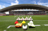 Press Eye - Belfast -  Northern Ireland - 02nd June 2018 - Photo by William Cherry/Presseye. Everything ready for Northern Ireland\'s training session at the Nuevo Estadio Nacional de Costa Rica in San Jose ahead of Sundays Friendly International against Costa Rica.. Photo by William Cherry/Presseye