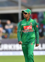 Mandatory Credit: Rowland White / PressEye. Cricket: Walton Tri-Series International. Teams: Ireland (light green) v Bangladesh (dark green). Venue: Malahide. Date: 19th May 2017. Caption: Mosaddek Hossain, Bangladesh