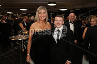 Press Eye - Belfast - Northern Ireland - 14th January 2019.. Gillian Hetherington and Paddy Barnes pictured at the  Belfast Telegraph Sports Awards 2018 in the ICC Belfast.. Photo by Kelvin Boyes / Press Eye..