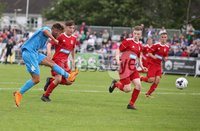 PressEye-Northern Ireland- 27th   July  2018-Picture by Brian Little/PressEye. SuperCupNI. Premier   Section . B Italia Buonavoglia Kevin Salvatore  opens the scoring against Co Down during the SuperCupNI Premier  Final  at Ballymena Showgrounds. . Picture by Brian Little/PressEye