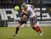 . Danske Bank Premiership, Seaview, Belfast 13/1/2018. Crusaders vs Ards. Crusaders David Cushley in action with Ards David Elebert. Mandatory Credit ©INPHO/Stephen Hamilton