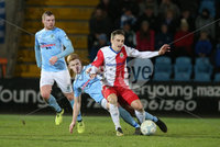 Danske Bank Premiership, Showgrounds, Ballymena. 14/2/2020. Ballymena United  vs Linfield FC. Ballymena United\'s Josh Kelly   and Joel Cooper   of Linfield.. Mandatory Credit  INPHO/Brian Little