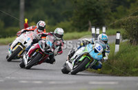 PressEye-Northern Ireland- 9th August 2018-Picture by Brian Little/ Double Red. Ulster Grand Prix  . Dean Harrison Silcone Engineering Racing Kawasaki leads Adam McLean 600cc Kawasaki and Conor Cummins Padgetts Motorcycles Honda during Lisburn & Castlereagh City Council 600 Supersport Race during practice for the Ulster Grand Prix races around the Dundrod 7.4 mile circuit. . Picture by Brian Little/Double Red