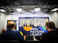 Press Eye - Belfast - Northern Ireland - 8th November 2018 . Northern Ireland manager Michael O\'Neill talks the media ahead of the National teams games against Republic of Ireland and Austria.. Picture  Matt Mackey / Press Eye.