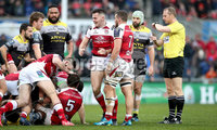European Rugby Champions Cup Round 5, Kingspan Stadium, Belfast 13/1/2018. Ulster vs La Rochelle. Ulster\'s Jacob Stockdale celebrates winning a penalty . Mandatory Credit ©INPHO/Ryan Byrne