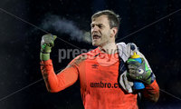Danske Bank Premiership, Mourneview Park, Co. Armagh 3/4/2018 . Glenavon vs Linfield. Mandatory Credit ©INPHO/William Cherry. Linfield\'s Roy Carroll at the final whistle