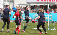 Press Eye - Belfast - Northern Ireland - 16th May 2019. Day two of the Balmoral Show in partnership with Ulster Bank at Balmoral Park outside Lisburn. Young Famers girl\'s football at the show. .  . Picture by Jonathan Porter/PressEye