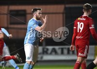 Tennent\'s Irish Cup Round 6, Windsor Park, Belfast 11/2/2019. Ballymena v Portadown. Ballymena\'s Cathair Friel celebrates scoring . Mandatory Credit INPHO/Stephen Hamilton.