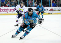 Press Eye - Belfast -  Northern Ireland -16th November 2019 - Photo by Darren Kidd/Presseye . Belfast Giants\' Matt Pelech with Dundee Stars during Saturday nights Elite Ice Hockey League game at the SSE Arena, Belfast.    Photo by Darren Kid/Presseye