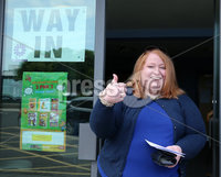 Press Eye - Belfast - Northern Ireland - 23rd May 2019 - . Polling stations open across Northern Ireland for the European Election.  Northern Ireland can return three candidates tot he European Parliament. . Alliance Party leader and EU candidate Naomi Long pictured voting at St. Colmcilles polling station on the Newtownards Road in east Belfast. . . Photo by Jonathan Porter / Press Eye.