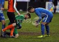 Danske Bank Premiership Play Off Loughshore Hotel Arena, Carrickfergus. Wednesday 9 May 2018. Carrick Rangers FC vs Newry City FC. Stephen Maguire Newry\'s keeper. Mandatory Credit ©INPHO/Freddie Parkinson