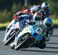 PressEye-Northern Ireland- 12th  August   2017-Picture by Brian Little/ PressEye. Dean Harrision Silcone Engineering Kawasaki leads Dan Kneen  TYCO BMW S1000RR  around  Tornagrough  during the Around A Pound Superbike Race at the MCE Insurance Ulster Grand Prix, around the 7.4  mile Dundrod Circuit . Picture by Brian Little/PressEye  .