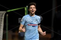 Tennent\'s Irish Cup Round 6, Windsor Park, Belfast 11/2/2019. Ballymena v Portadown. Ballymena\'s Adam Leckey celebrates his second goal of the night. Mandatory Credit INPHO/Stephen Hamilton.