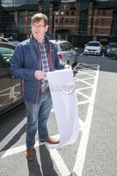PressEye - Belfast - Northern Ireland - 19th May 2017. Pictured: Willie Frazer pictured today at a Sinn Féin delegation lead by Paul Maskey will be meeting with the Electoral Commission - The Gasworks, 4 Cromac Avenue, Belfast BT7 2JB to raise the public\'s serious concerns over DUP \'Dark Money. . Picture: Philip Magowan / PressEye