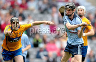 GAA Hurling All Ireland Minor Championship Semi-Final, Croke Park, Dublin 12/8/2012. Dublin vs Clare. Dublin\'s Caolan Conway scores his sides second goal despite Brian Carey of Clare. Mandatory Credit ©INPHO/James Crombie