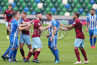 Press Eye - Belfast - Northern Ireland - 27th July 2020 - . Ballymena United FC v Coleraine FC Sadler\'s Peaky Blinder Irish Cup Semi Final at the National Football Stadium at Windsor Park.. . Photo by Jonathan Porter Press Eye.