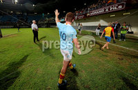Pre-Season Friendly, Stade Aime Giral, Perpignan, France 9/8/2018. USA Perpignan vs Toulouse. Perpignan\'s Paddy Jackson thanks fans after the match. Mandatory Credit ©INPHO/Billy Stickland