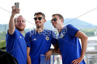Press Eye - Belfast -  Northern Ireland - 28th May 2018 - Photo by William Cherry/Presseye. Northern Ireland players Liam Boyce, Craig Cathcart and Jonny Evans visit the Panama Canal on Monday morning as part of their summer tour to Panama and Cost Rica. The Canal is a 77.1-kilometre ship canal in Panama that connects the Atlantic Ocean to the Pacific Ocean. Photo by William Cherry/Presseye