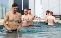 Press Eye - Belfast -  Northern Ireland - 31st May 2018 - Photo by William Cherry/Presseye. Northern Ireland\'s Liam Boyce and Paddy McNair in the pool during Thursday mornings recovery session at the team Hotel in San Jose, Costa Rica ahead of their International Friendly on the last leg of their Central America tour.. Photo by William Cherry/Presseye