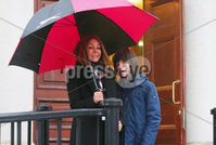 Press Eye - Belfast - Northern Ireland - 14th February 2020. Charlotte Caldwell pictured with her son Billy at the High Court in Belfast where they are continuing their legal case to secure medicinal cannabis for his epilepsy.  See copy by Alan Erwin.. Picture by Jonathan Porter/PressEye