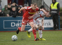 Danske Bank Premiership, Solitude Belfast, Co Antrim 10/03/2018. Cliftonville  vs Crusaders . Cliftonville\'s Liam Bagnall  in action with Crusaders Gavin Whyte. Mandatory Credit ©INPHO/Stephen Hamilton.