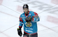 Press Eye - Belfast -  Northern Ireland - 12th January 2018 - Photo by William Cherry/Presseye. Belfast Giants Sebastien Sylvestre celebrates scoring against Nottingham Panthers during Friday nights Elite Ice Hockey League game at the SSE Arena, Belfast.