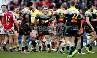 European Rugby Champions Cup Round 5, Kingspan Stadium, Belfast 13/1/2018. Ulster vs La Rochelle. La Rochelle\'s Jean-Charles Orioli encourages his teammates . Mandatory Credit ©INPHO/Ryan Byrne