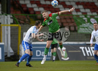 4th May 2021. Danske Bank Irish league,The Oval,Belfast.. Glentoran v Coleraine . Glentorans  Andy Mitchell  in action with Coleraines Stephen ODonnell . Mandatory Credit Inpho/Stephen Hamilton