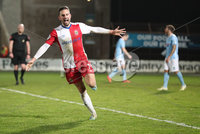 Danske Bank Premiership, Showgrounds, Ballymena. 14/2/2020. Ballymena United  vs Linfield FC. Linfield Andrew Waterworth celebrates scoring his sides fourth goal against Ballymena United.. Mandatory Credit  INPHO/Brian Little