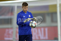 Press Eye - Belfast -  Northern Ireland - 11th October 2018 - Photo by William Cherry/Presseye. Northern Ireland\'s Bailey Peacock Farrell during Thursday nights training session at the Ernst Happel Stadium in Vienna, ahead of their UEFA Nations League game against Austria.