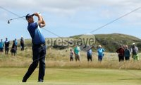 2018 Dubai Duty Free Irish Open - Day 1, Ballyliffin Golf Club, Co. Donegal 5/7/2018. Padraig Harrington hits his approach to the eighth green. Mandatory Credit ©INPHO/Oisin Keniry