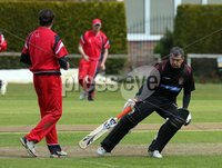 ©Press Eye Ltd Northern Ireland -12th May 2012 - Mandatory Credit - Picture by Matt Mackey/presseye.com. Irish Cup cricket Waringstown v Strabane at The Lawn.. Strabane\'s batsman Martin Deans in action.